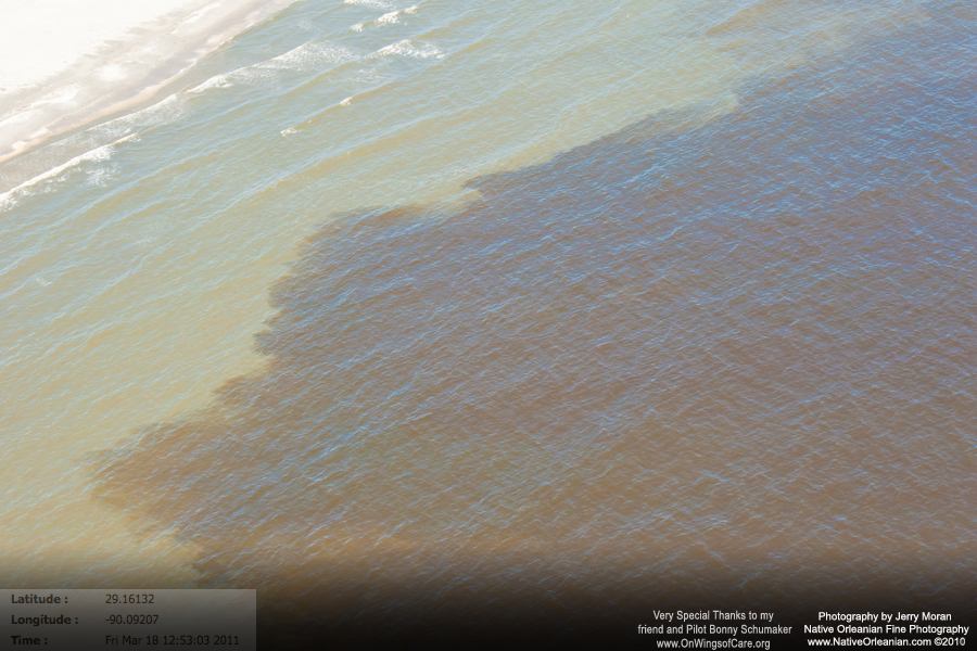 oil slick off beach of grandterre island_20110318_jm0709_a_1